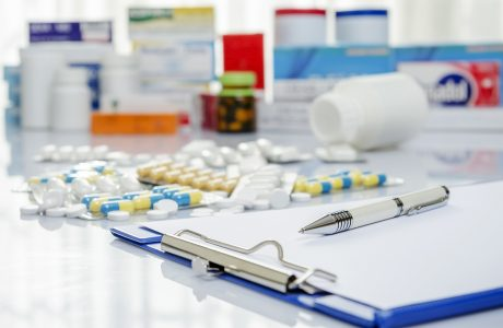 various medications on a table