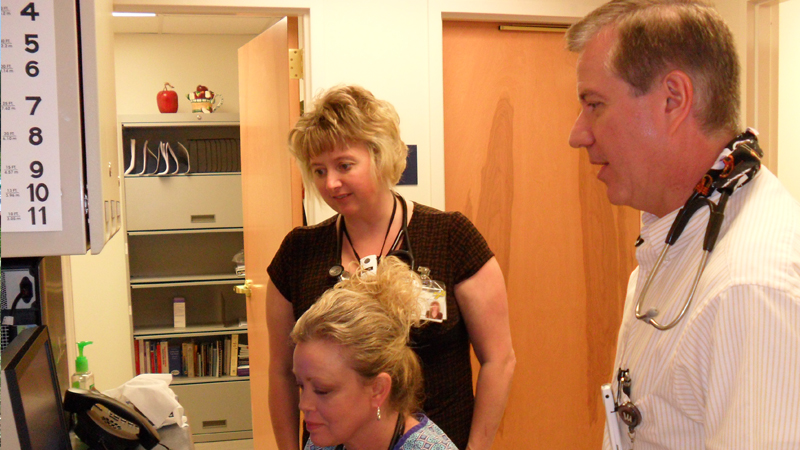 staff coordinating patient care