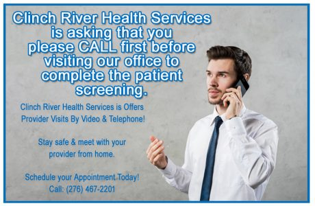 CALL first before visiting our office to complete the patient screening.