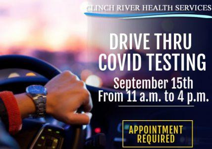 Drive Thru Covid Testing @ CRHS